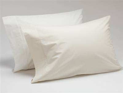 Coyuchi Organic Cotton Percale Pillowcase (Pair) - 300 Thread Count
