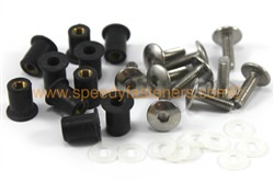 Belly Pan Well Nuts & Stainless Steel Bolts m5