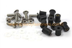 Belly Pan Well Nuts & Stainless Steel Bolts m6