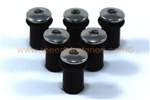 6x M5 5mm Rubber Well Nuts & Stainless Bolts for Screen / Fairing