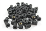 Pack of 50 x m5 Rubber Well Nuts