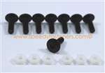 8 x Black Anodised Aluminium Bolts for Screen / Fairing