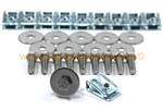 10x under shield, under tray, belly pan clips & bolt kit