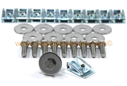 Under Tray Splash Shield 16x Clips /& Stainless Bolts for BMW E90 E91 E92 Engines