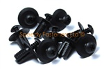 8mm Black Plastic Screw Rivets Scrivets Wheel Arch A100W6391F