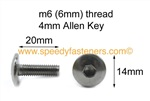Stainless Steel Motorcycle Fairing Bolts Pan Head m6