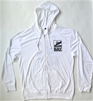Maumee Bay Brewing Co. Long Sleeve White Zip Up Hoodie