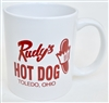 Rudy's Hot Dog Coffee Mug