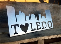 Toledo Skyline Metal Sign