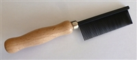Wood Handle Comb - Fine #31Black
