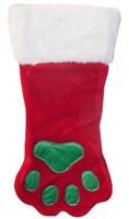 Holiday Paw Print Stocking Small