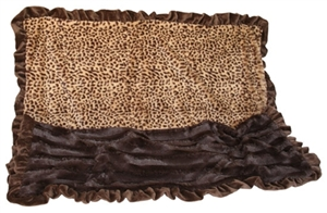 Cuddle Blanket - Cheetah Print & Brown