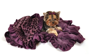 Cuddle Blanket - Purple Cheetah Print