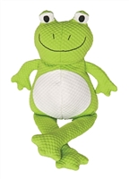 Patchwork Pet Tuff Puffs Dog Toy Froggle 20""