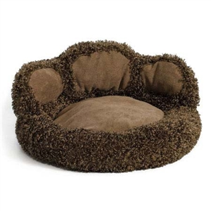 Paw Pet Bed in Chocolate