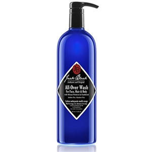 Jack Black All Over Wash for Face, Hair, and Body with Wheat Protein and Panthenol - 33 fl.oz.
