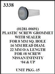 W-E 3338 Plastic Screw Grommet With Sealer, Nissan & Infinity