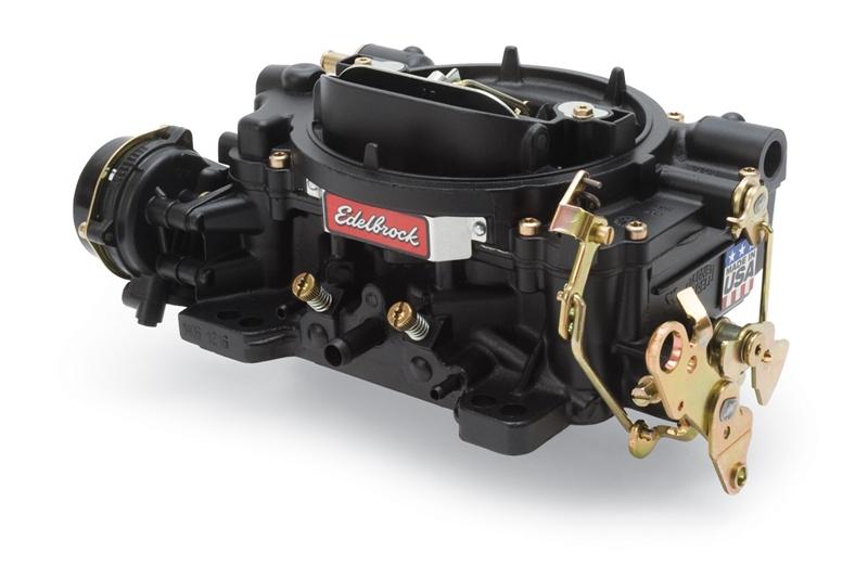 EDELBROCK PERFORMER SERIES 600 CFM CARBURETOR, SQUARE FLANGE, ELECTRIC  CHOKE (NON-EGR)- BLACK POWDER-COATED FINISH - 14063