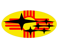 New Mexico Flag Subaru Emblem Overlay Set