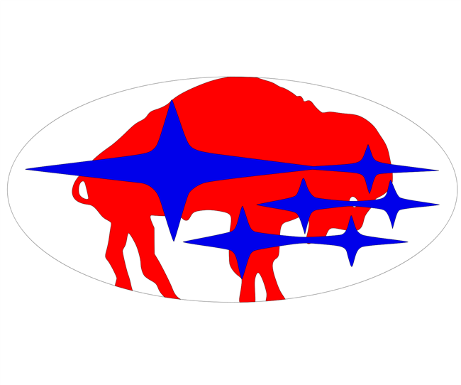 Buffalo Bills Subaru Emblem Overlay Set
