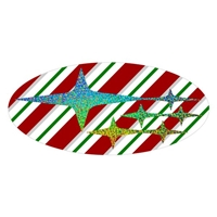 Candy Cane Subaru Star Overlay Set