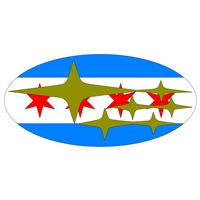 Chicago Flag Overlay Set