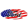 Ford American Flag Overlay set