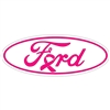 Ford Breast Cancer Emblem Overlay Set