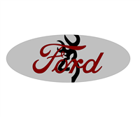 Ford Browning Emblem Overlay Set