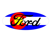Ford Colorado Flag Emblem Overlay Set