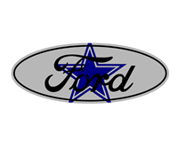 Ford Dallas Cowboys Emblem Overlay Set