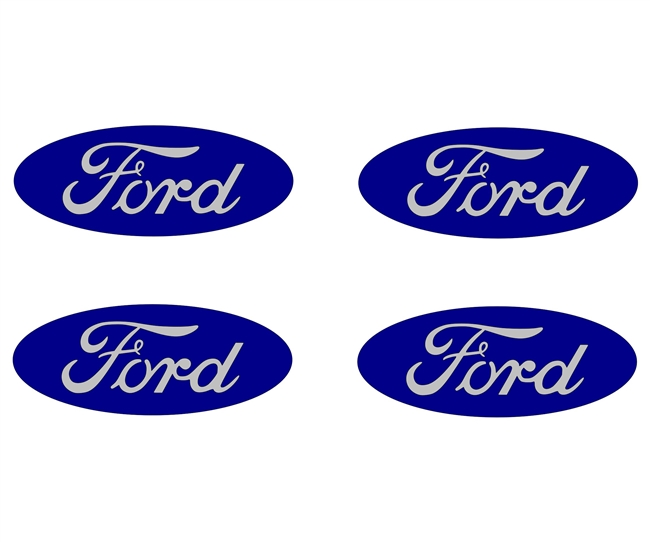 Ford Oval Center Cap Overlays Without Ring