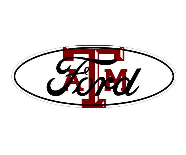 Ford Texas A&M Emblem Overlay Set