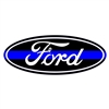 Ford Thin Blue Line Emblem Overlay Set