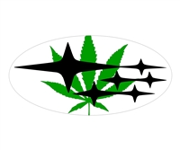 Marijuana Leaf Overlay Set
