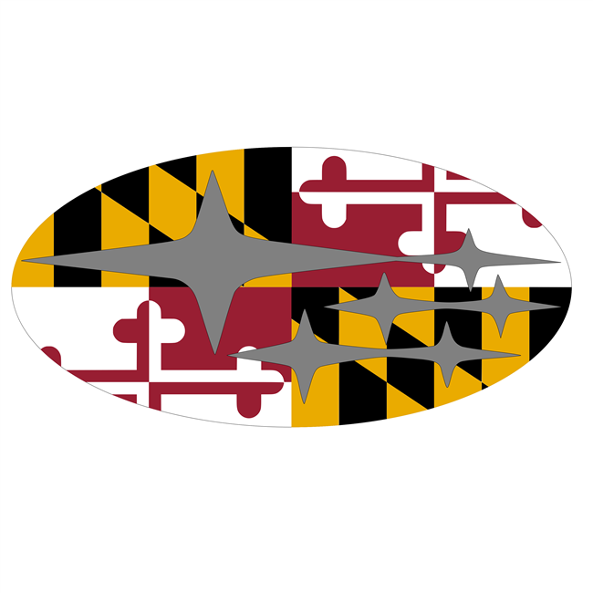 Subaru Maryland Flag Overlay Set