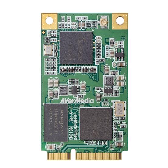 AVerMedia - 1080p 60 H 264 H/W Encode Mini PCIe Video Capture Card - CM313B