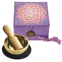 2 inch Crown Chakra Mini Meditation Bowl in Gift Box