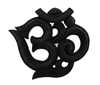 Stained Wooden Om Symbol Wall Plaque