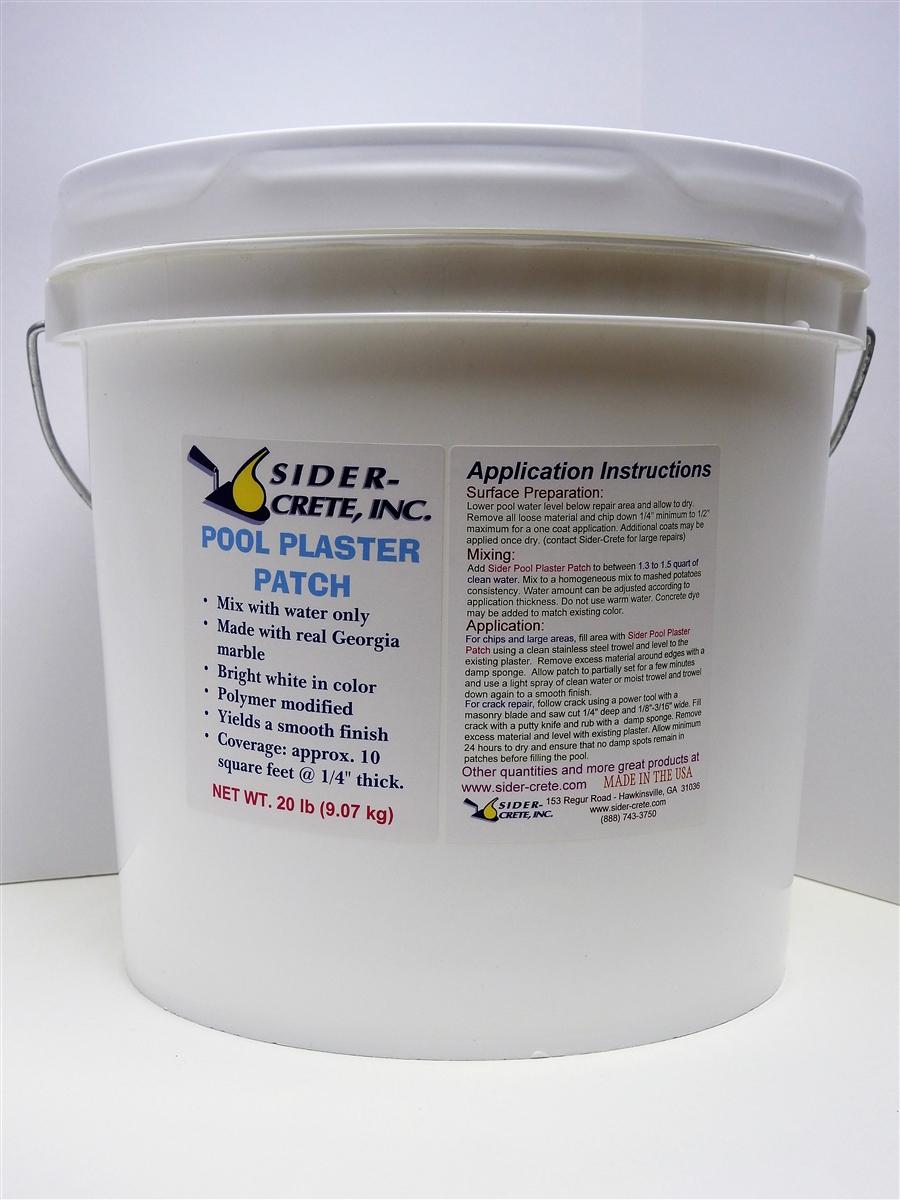 Roll On Pool Plaster Diy Sider Crete Inc: Sider Pool Plaster Patch