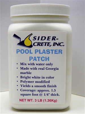 Sider Pool Plaster Patch - 3lbs