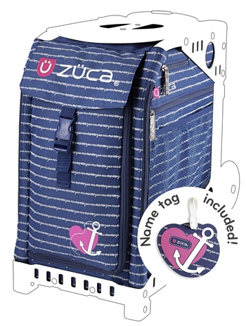 ANCHOR MY HEART Zuca Bag - Free Name Tag - NO FRAME