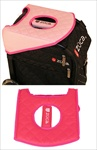 Sport Seat Cushion, Pink Hot/Dots Pink
