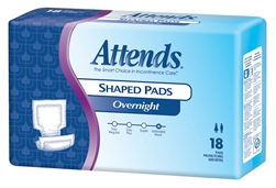 Attends Overnight Shaped Urinary Incontinence Pads