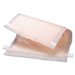 Tranquility Peach Sheet Underpads with Tape Tabs