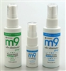 M9 Odor Eliminator Spray Room Deodorizer 2 ounce and 8 ounce spray bottles