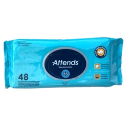 Attends No-Rinse Scented Disposable Washcloths