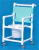 Shower Commode Chair on Casters - 300-lb Weight Capacity