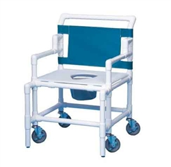 Bariatric Shower Commode Chair - 550-lbs Weight Capacity