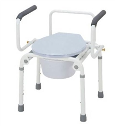 Merits_Drop_Arm_Steel_Commode_Chair_300-lb_Weight_Capacity
